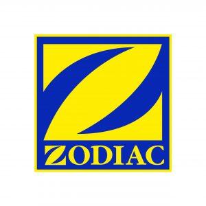 logo jaune et bleu marque Zodiac