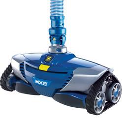 robot hydraulique bleu mx8 statique
