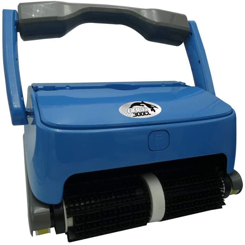 robot piscine sans fil bleu statique bleu et noir