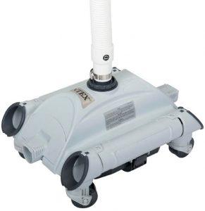robot piscine hydraulique  intex gris statique