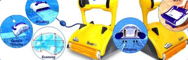 robot de piscine électrique Dolphin Swash CL